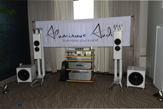 Aluminous Audio Gravitas loudspeakers ($39,900 /pr).
