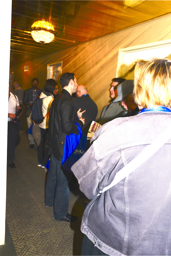 Crowded hallways.