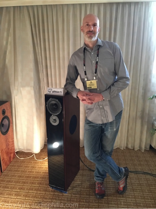 John DeVore and his gibbon X Loudspeaker from RMAF Denver, 2015.