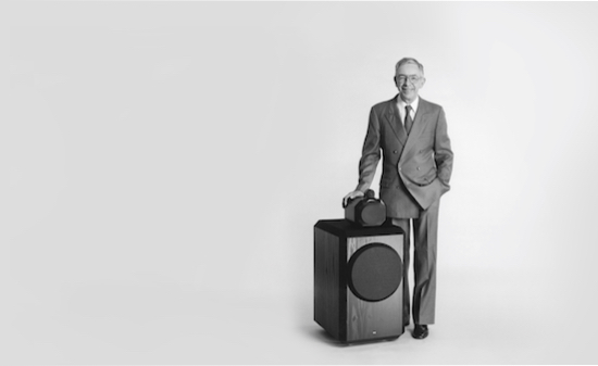 John Bowers and the original 801 Loudspeaker.