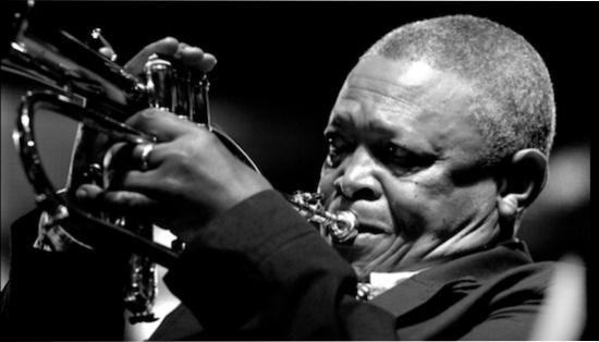 Hugh Masekela, trumpet.