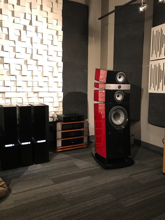 Focal Stella Loudspeakers (CAD$110,000/pair). Small room for these behemoths, but incredible sound nonetheless. Driven by Naim.