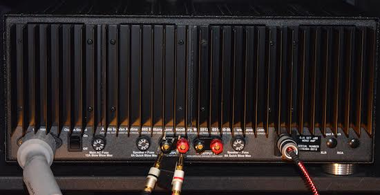 Audio by Van Alstine DVA SET 600 Mono Block Amplifier rear panel.