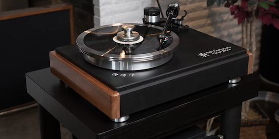 The brand new HW-40 Direct Drive Turntable.  $15,000 (with arm). 'Over 40 years of refinement all leading up to this turntable. A tasteful combination of aluminum, solid wood, and 3D printed technology. Featuring an updated and upgraded version of our Award Winning Direct Drive Motor.'