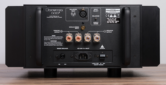Bryston 28B³ Monoblock Power Amplifier rear panel.