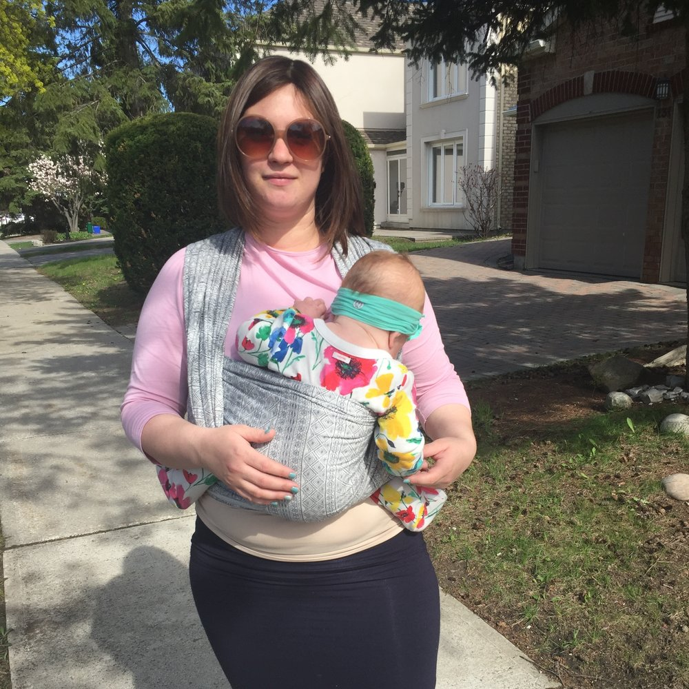 Neighbourhood Walk in our first wrap, Didymos Prima Fuma