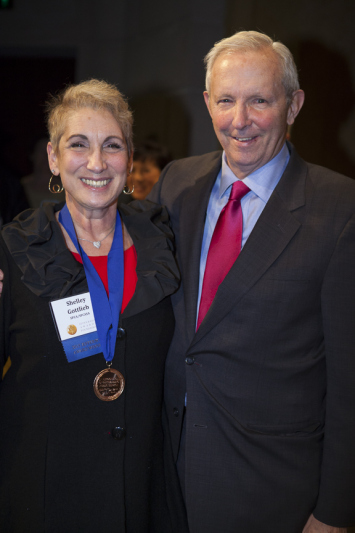 Shelley at her Jefferson Award acceptance ceremony