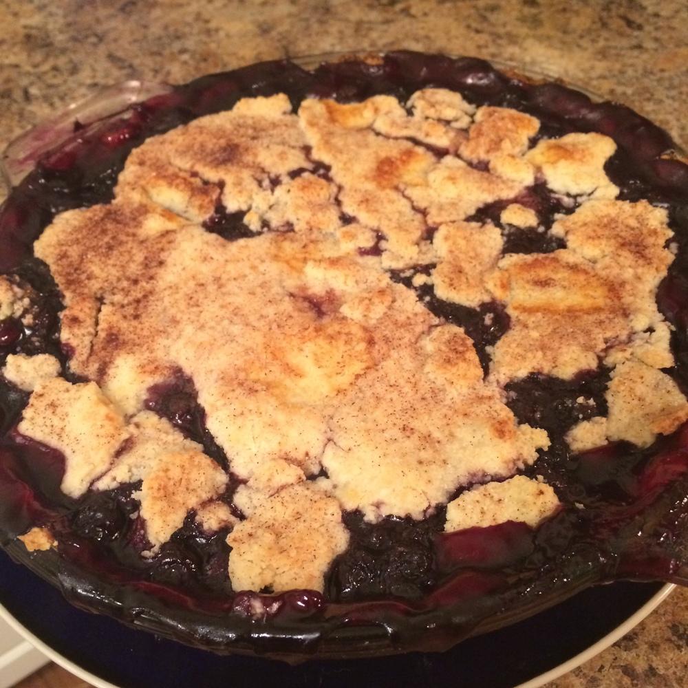 Rosemary Blueberry Pie