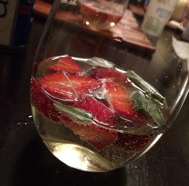 Strawberry Sage Prosecco