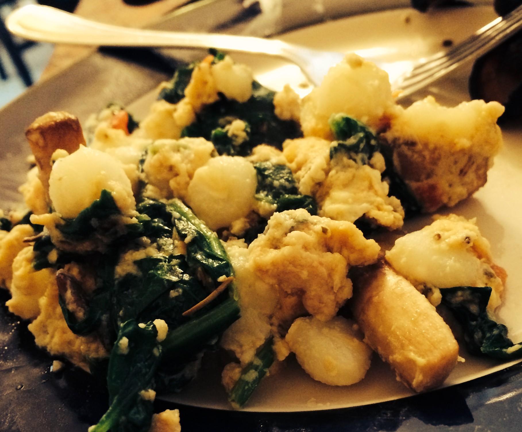 Spinach Posole Eggs