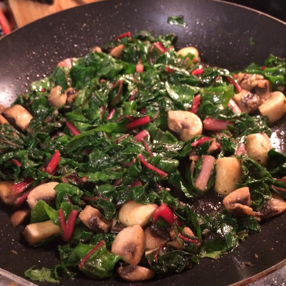 Swiss Chard with Mushrooms
