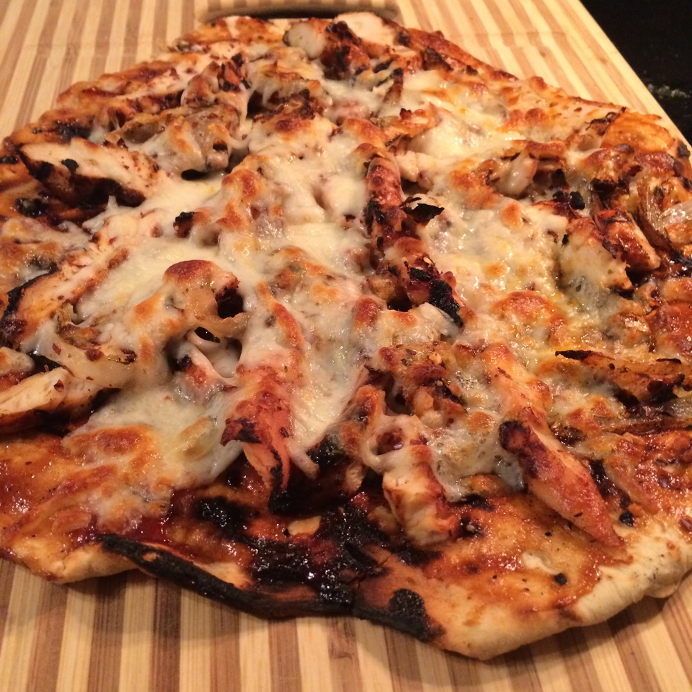 BBQ Chicken Pizza with Caramlized Onions