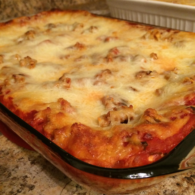 Easy-Peasy Lasagna with Turkey Sausage