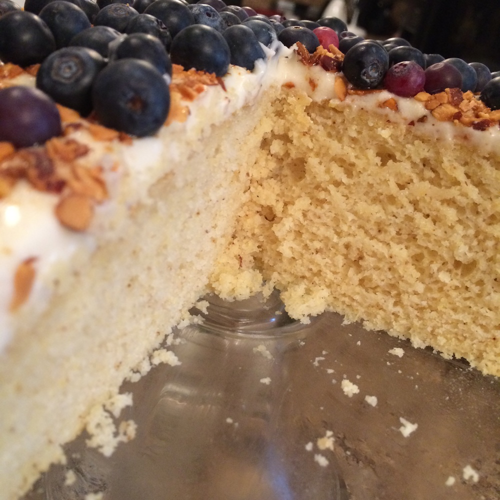 Cornmeal Cake with Maple Buttercream Frosting