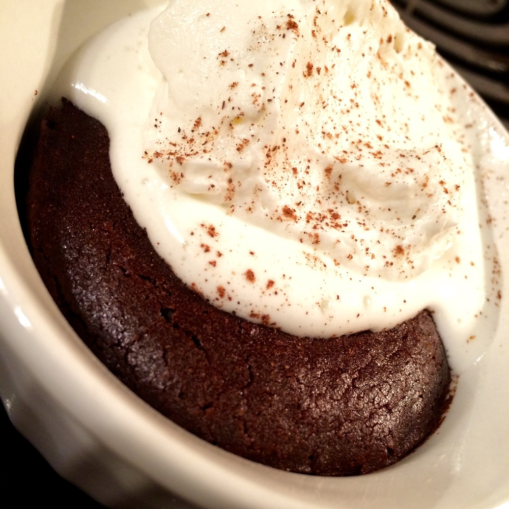 Dark Chocolate Steamed Pudding