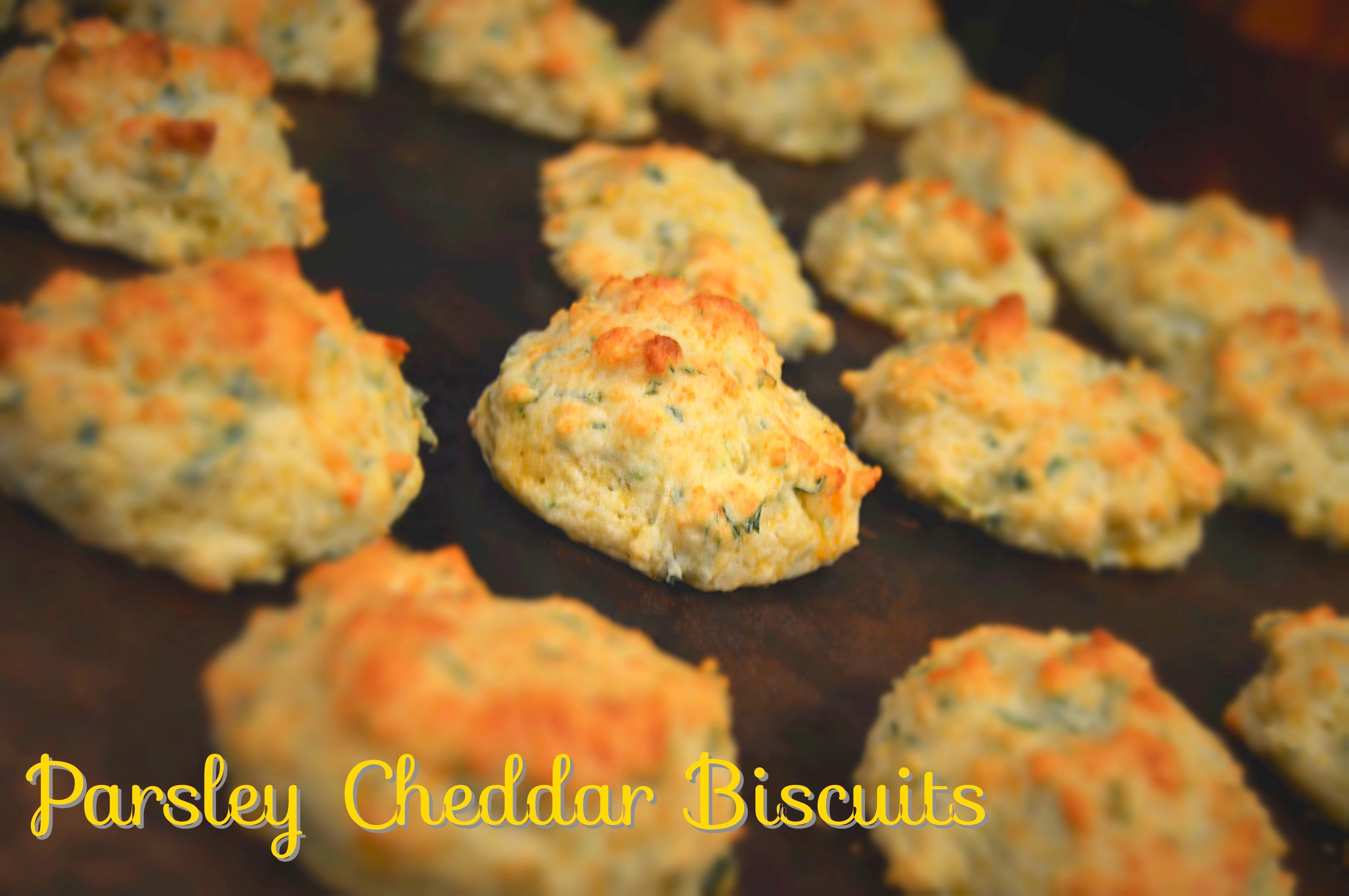 Parsley Cheddar Biscuits