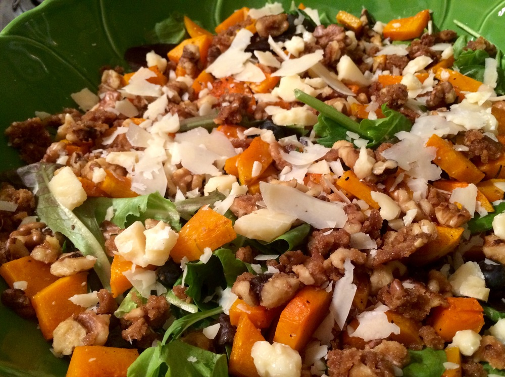 Roasted Butternut Squash Salad with Apple Cider Vinaigrette