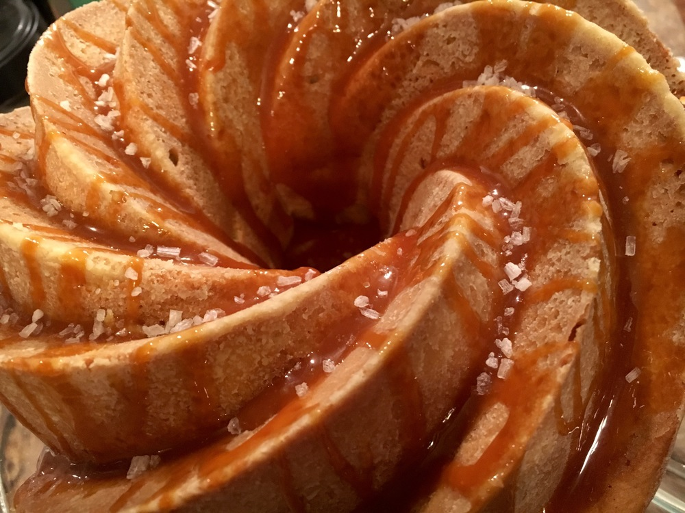 Spiced Bundt Cake with Salted Caramel Glaze