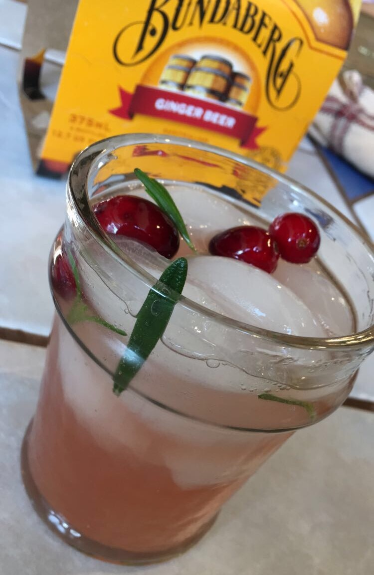 Rosemary & Cranberry Moscow Mules
