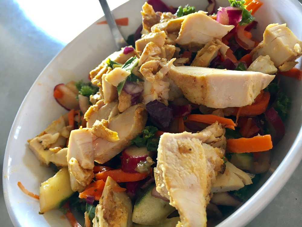 Ginger Chicken with Purple Cabbage Salad