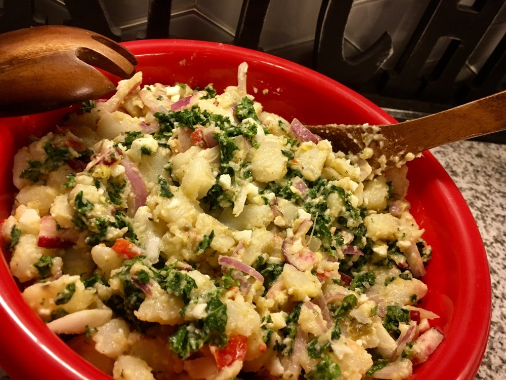 Roasted Kale Potato Salad
