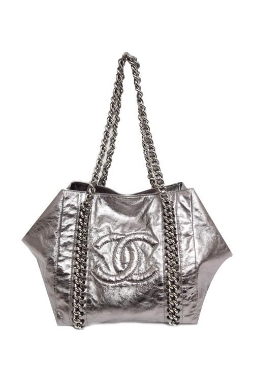 c6d6eee2c413 Chanel | Modern Chain Metallic ToteTops Blouse Pants Shoes Dresses ...