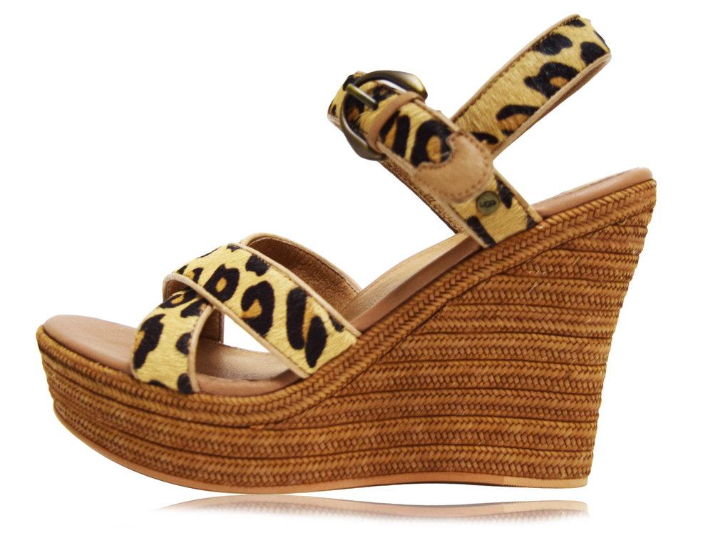ugg leopard wedges