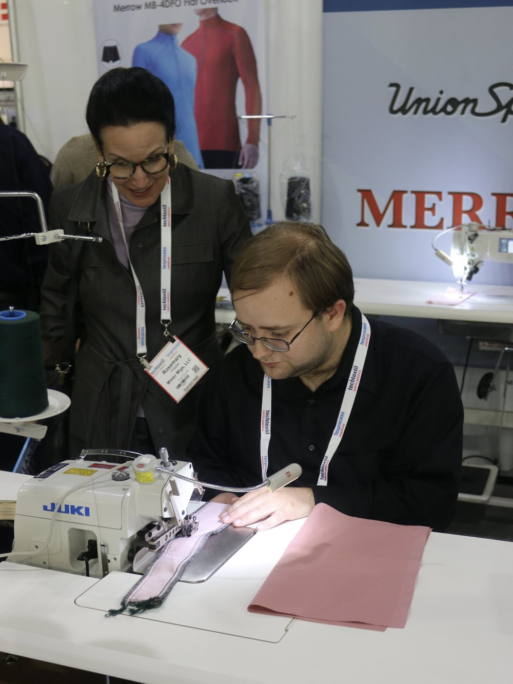 09152016 Sam at Textile conference on industrial serger.jpg