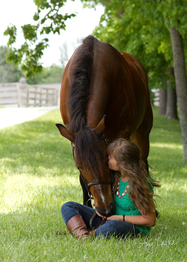 Its clear to see the adoration Katie has for her gelding Duke.  And here, he returns the love.