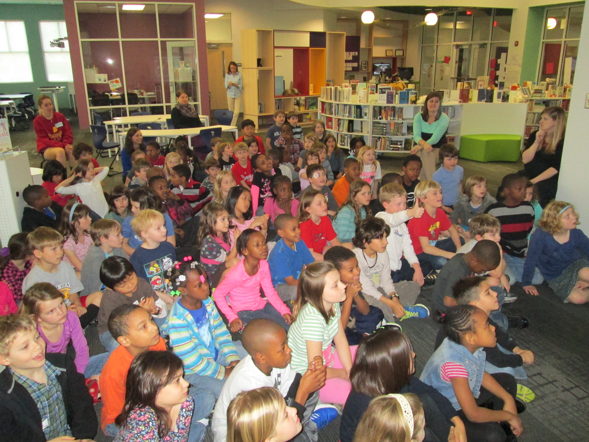 2nd graders at David C. Barrow Elementary School (photo courtesy: Andy Plemmons)