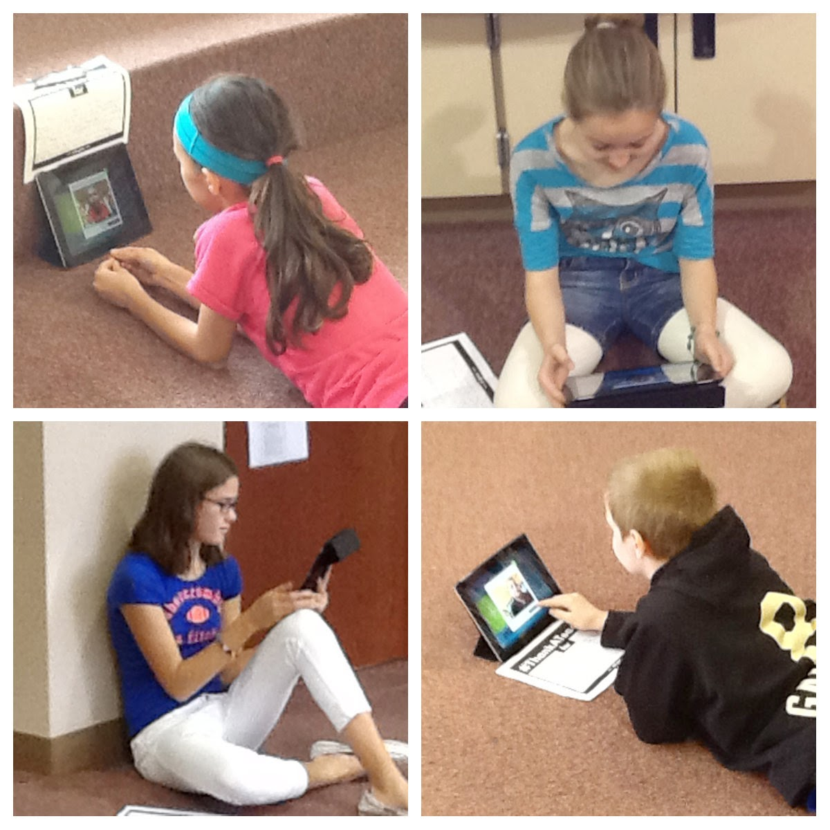 Oak Hills students thank their teachers with the Flipgrid iPad app.