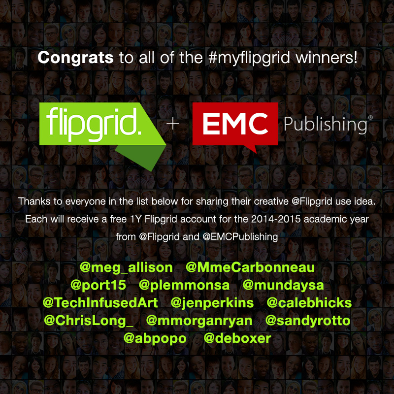 #myflipgrid contest winners