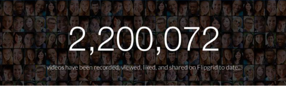 Over 2.2 Million videos on Flipgrid