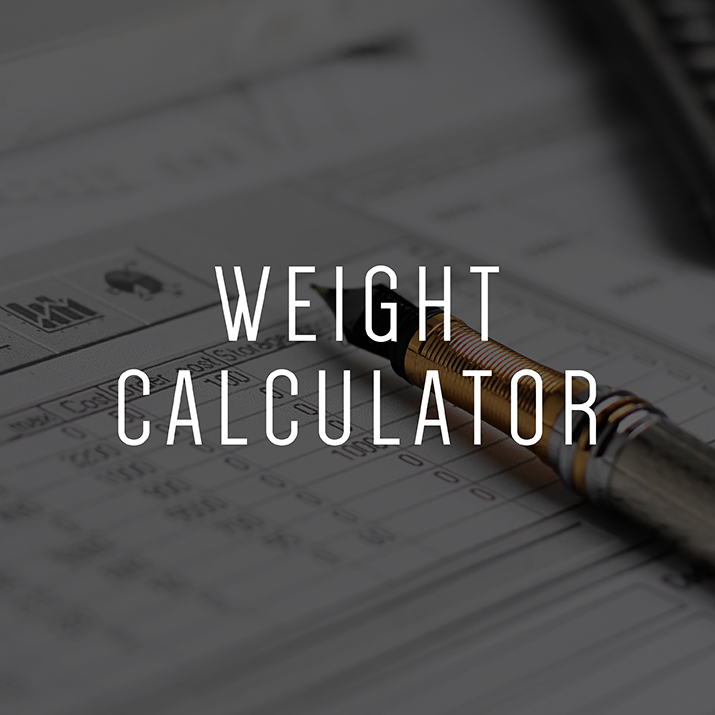 Wraith™ Raw Material Weight Calculator