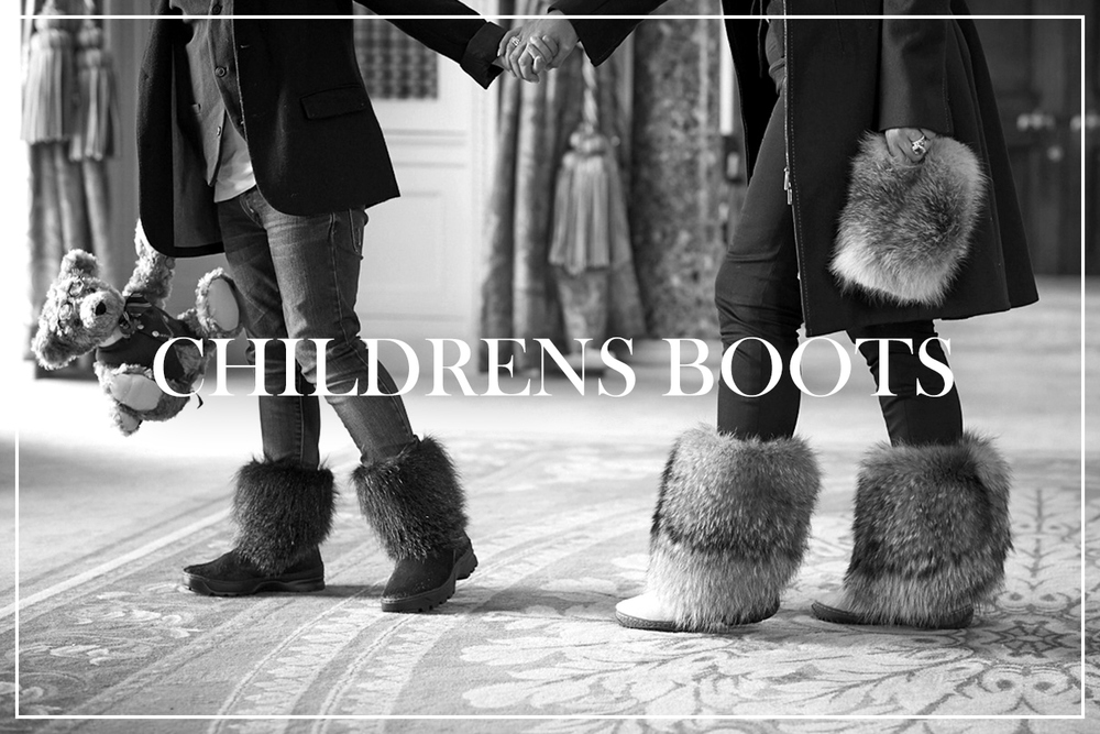 Siberian Chic Luxury Childrens Sheepskin Fur Boots And Accessories Lifestyle Ski Snow
