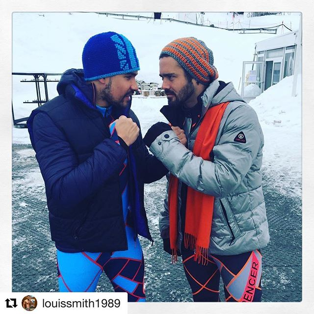 The battle gets fiercer at 18.30 on @channel4 @thejumpc4 as it's the Semi Finals!!! Go @missamywillerton @kad21 @emma_parker_bowles @louissmith1989 #gareththomas @spencermatthews @jason15robinson @lydiabright  LETS JUMP!  #Repost @louissmith1989 with @repostapp ・・・ Always a battle with @spencermatthews love it #weekendvibes #sunday #sundayfunday #weekend #ski #skiing #skiseason #slopestyle #slopes #snow #snowday #snowboots #snowboarding #men #menswear #mensstyle #mensfashion #teamgb #olympians #rugby #missgb #madeinchelsea