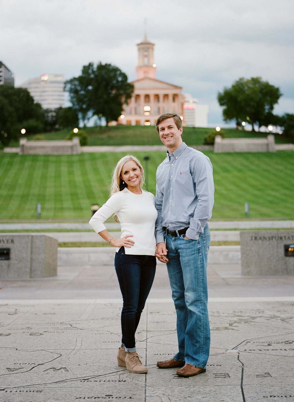 Engagement session location ideas in Nashville