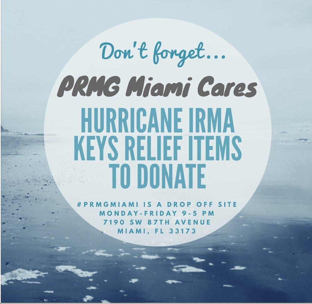 PRMG Miami: Hurricane Relief Efforts