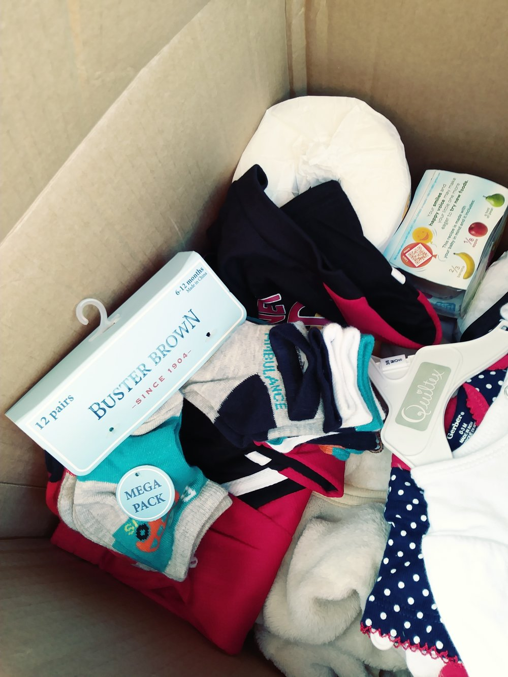 Collection Box for Hurricane Harvey Victims