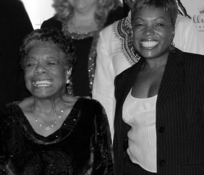 "Dr. Angelou and Deirdré Dix Hunt at 2005 Women In Films   Evening With Dr. Angelou   produced by Deirdré Dix Hunt for Hallmark —""simply put, an unforgettable experience."""