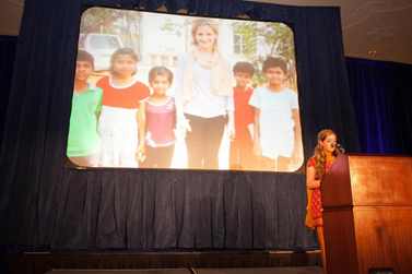 Speaking at a fundraising gala for our first partner school in Bangalore, India.