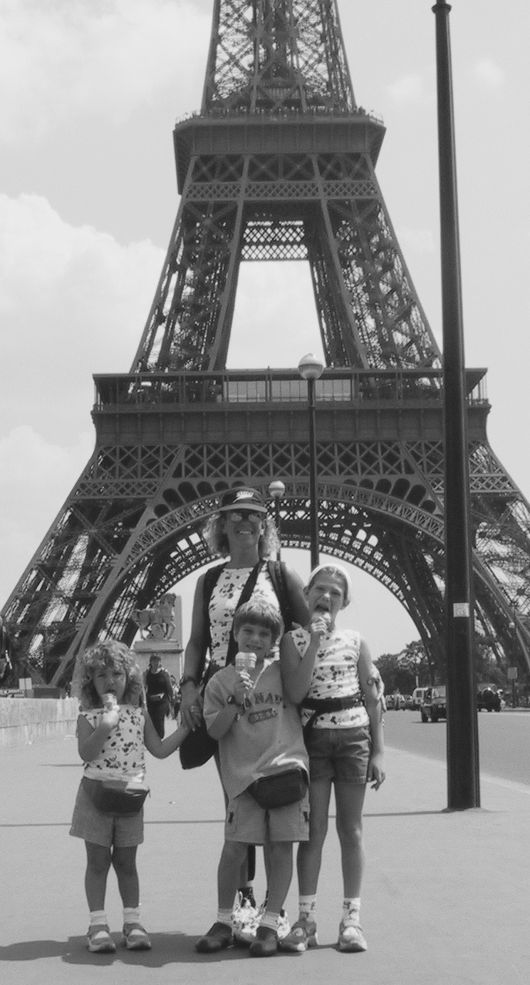 Me, Jonny, Azza, and my mother in Paris in 2003.