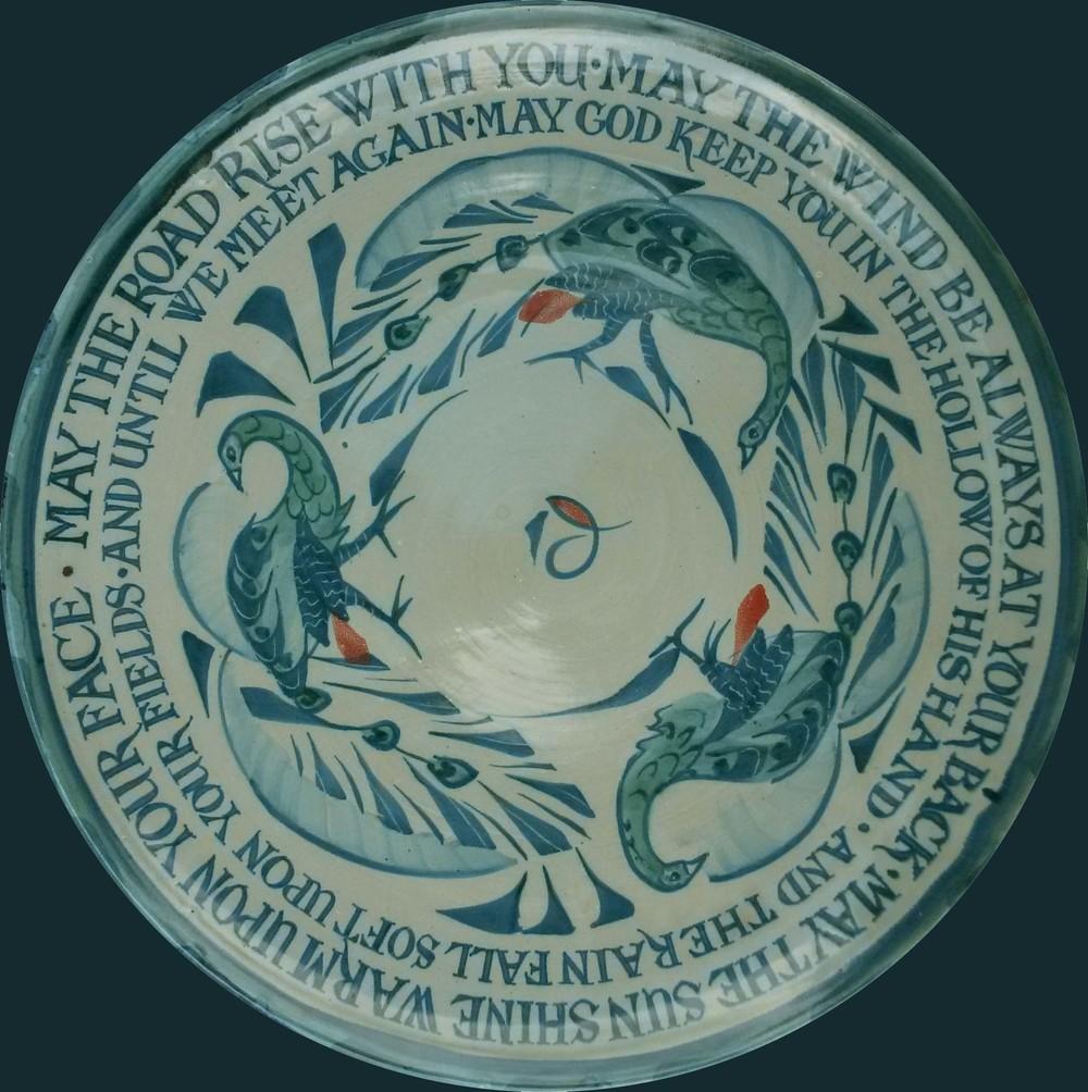 19. Gaelic blessing platter