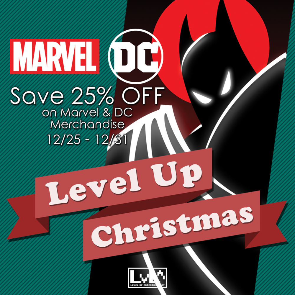 Save 25% Off Marvel & DC merchandise! Use discount code LUXMAS at checkout.
