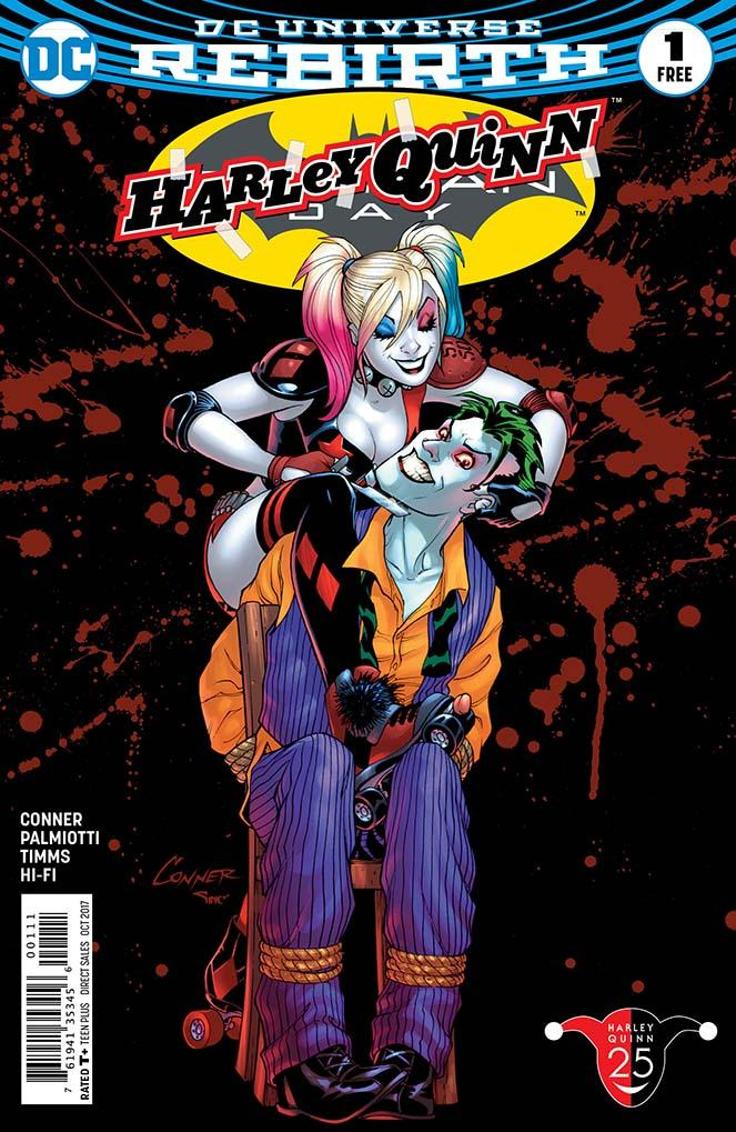 "Harley Quinn Batman Day 2017 Special Edition #1 reprints  Harley Quinn  #11, the first chapter of ""Joker Loves Harley,"" written by Amanda Conner and Jimmy Palmiotti with art by John Timms and a cover by Amanda Conner."