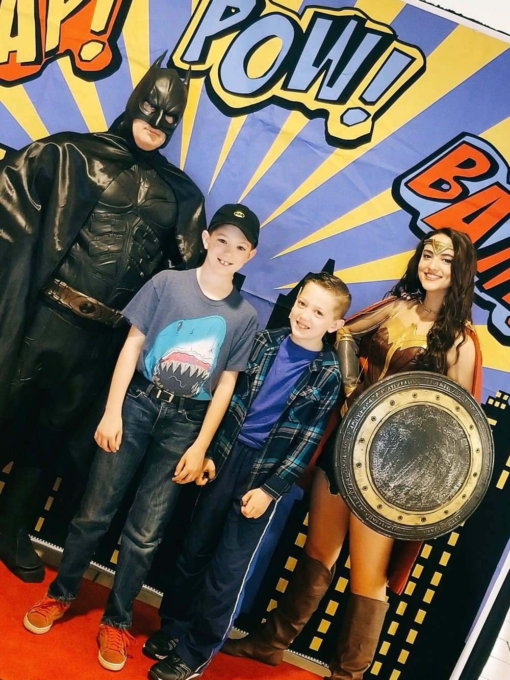 Partying With Batman And Wonder Woman