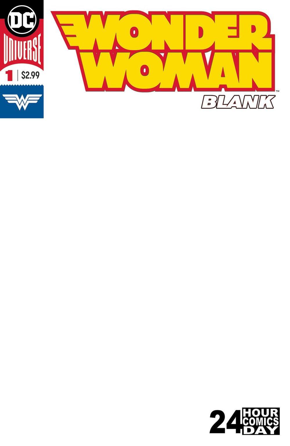 WONDER WOMAN BLANK COMIC #1