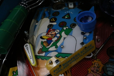 The Yoshi playfield nets you big points and helps you become SUPER Mario.