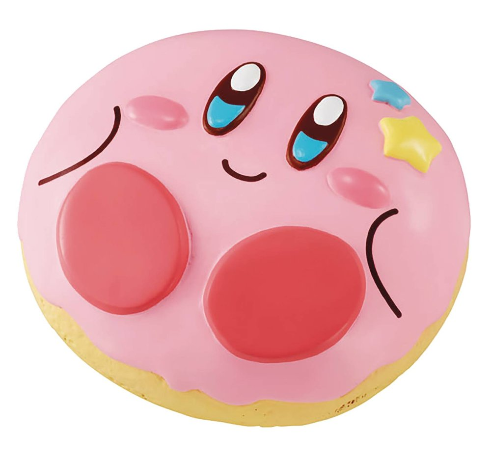 KIRBY SUPER STAR FLUFFY SQUEEZE STAR DONUT SHOP KIRBY