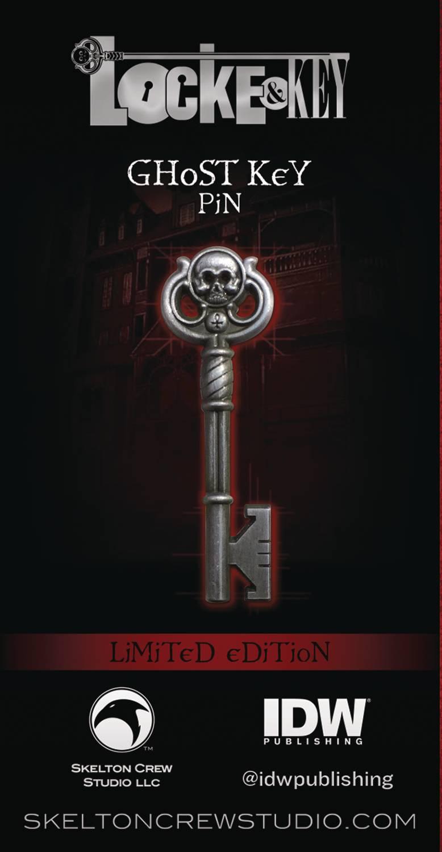 LOCKE & KEY GHOST KEY LIMITED EDITION ENAMEL PIN